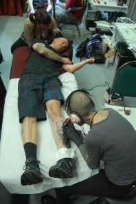 phil getting two tattoos at once
