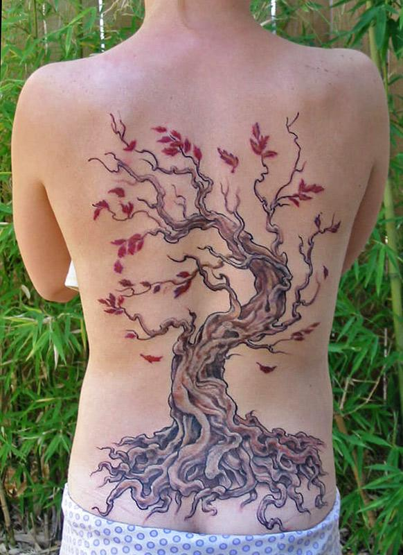 tree tattoos. tree tattoos for women. woman