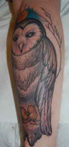 barn owl tattoo