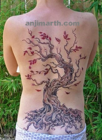 tree tattoo by anji marth