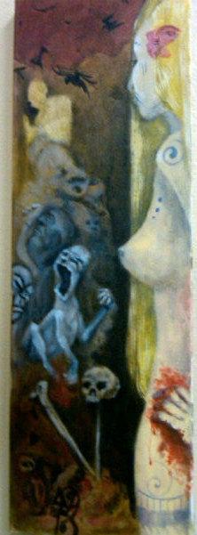 nude blonde oil painting