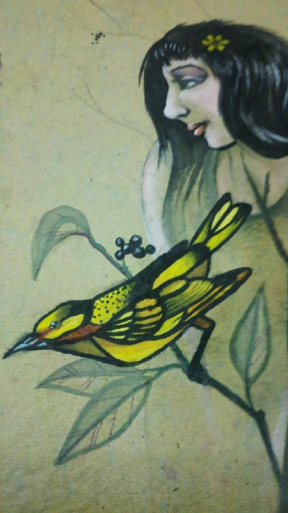original watercolor painting on handmade paper