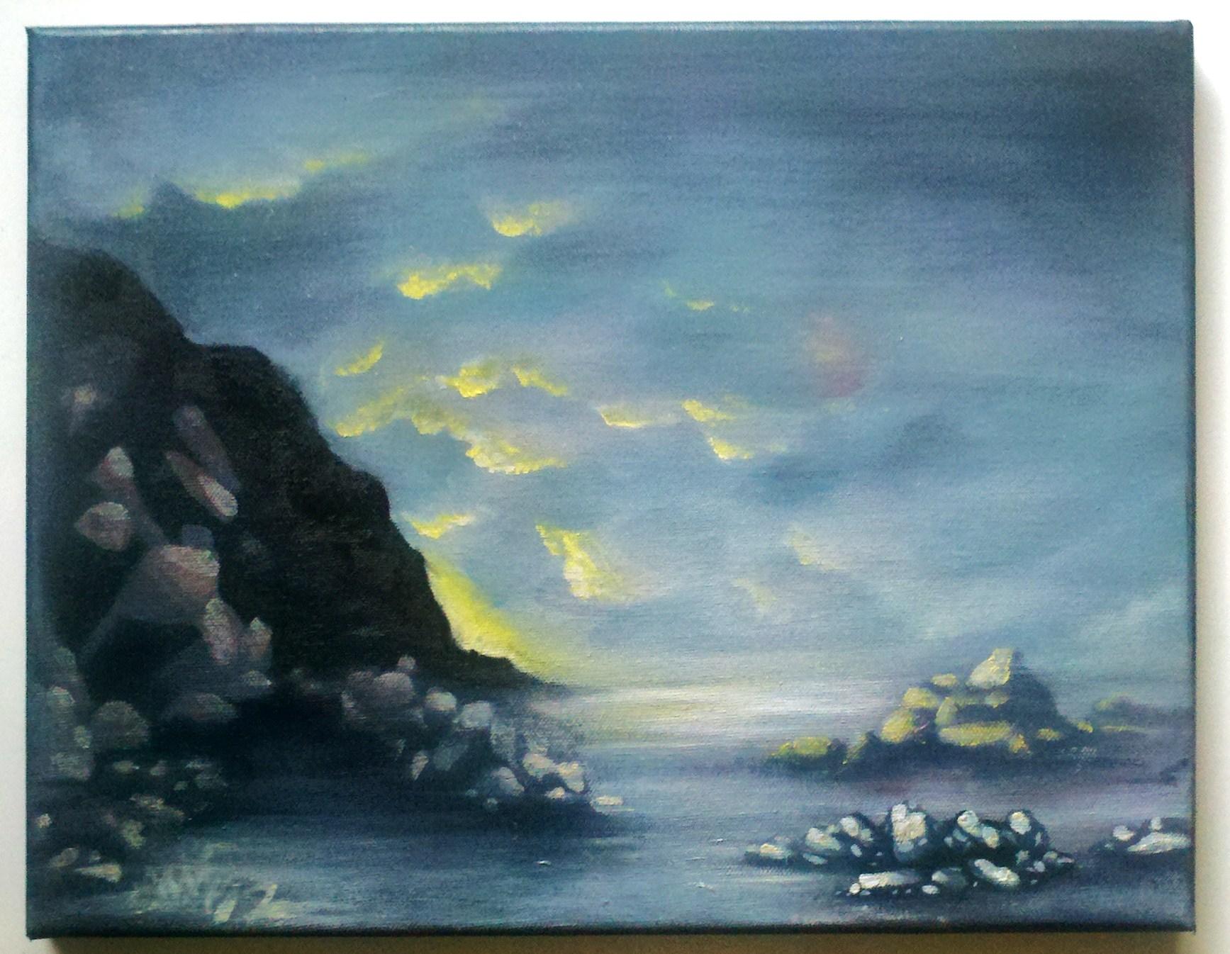 oregon coast landscape painting