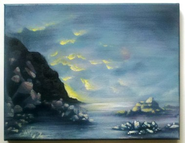 oregon coast landscape painting