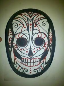 dios de los muertos skull