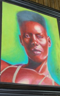grace jones portrait art