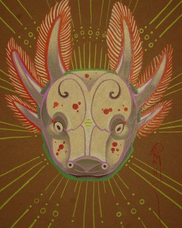 axolotl art totem