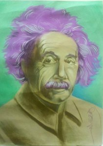 portrait art einstein