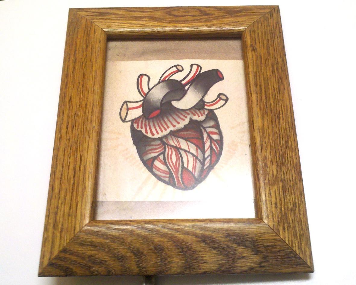 heart tattoo art
