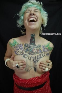 strength tattoo on women