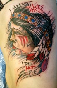 native woman rib tattoo