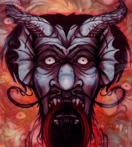 grey demon devil art