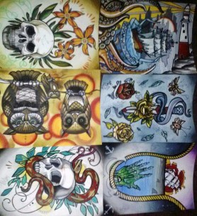 tattoo flash for sale by tattoo artist