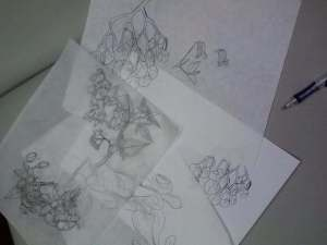 the rest of the floral sketches, nightshade and bleeding/flaming hearts