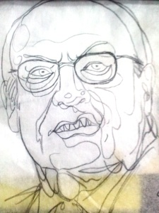 angry cheney tattoo portrait