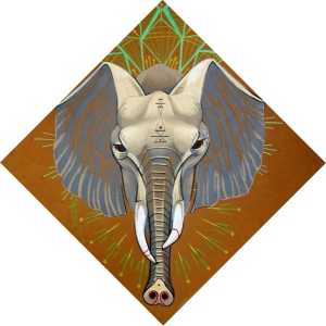 elephant art, totem, spirit animal