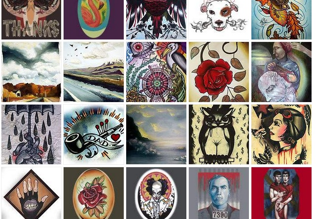 shirts and prints of tattoo art and fine art paintings