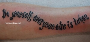 be yourself tattoo