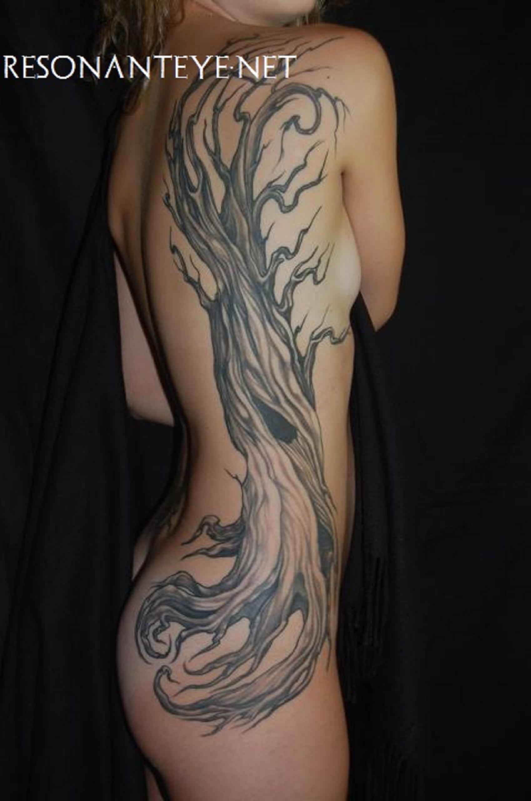 High tree, tattoo, finished 2012
