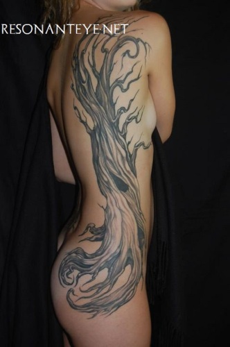 High tree, tattoo, finished 2012