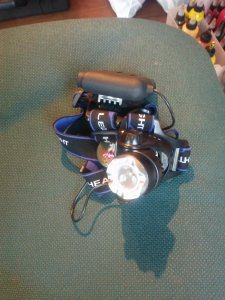 one of my co-worker's headlamps. yes, headlamp