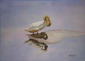 Signet 1 Watercolor Painting By Cape Ann Artist Kate Somers