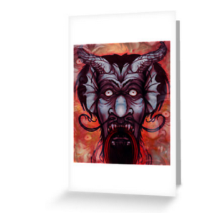 krampus blank greeting cards happy holiday neutral greeting cards inclusive holiday cards nondenominational holiday cards seasons greetings