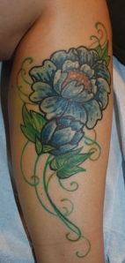 touched up one spot in the light green, the rest is healed!