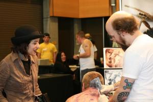 will bodnar, cicada tattoo, anji marth, high priestess tattoo, at tattoo convention